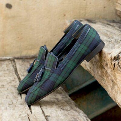 Custom Made Men's Drake Slippers in Blackwatch
