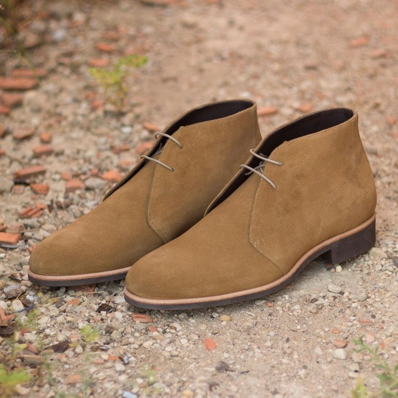 Custom Made Chukka Boot in Camel Luxe Suede