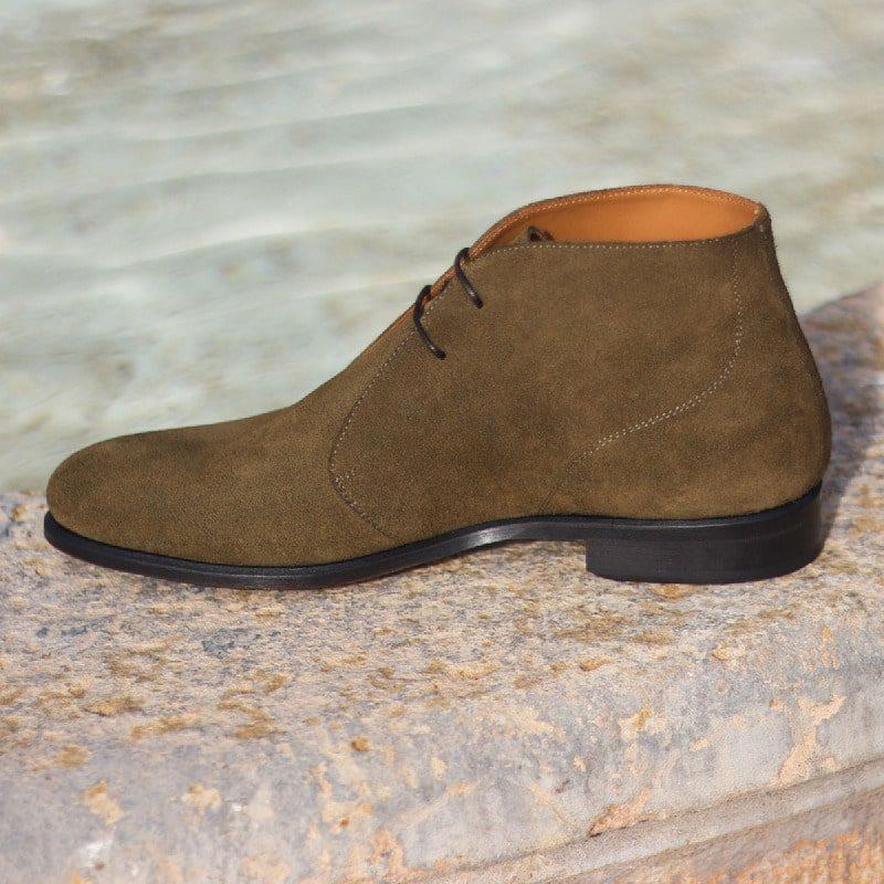 Custom Made Chukka Boot in Khaki Luxe Suede