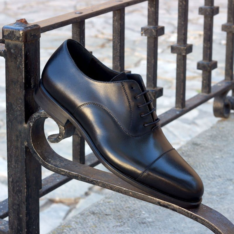 Custom Made Oxford, Black Box Calf and Black Luxe Suede