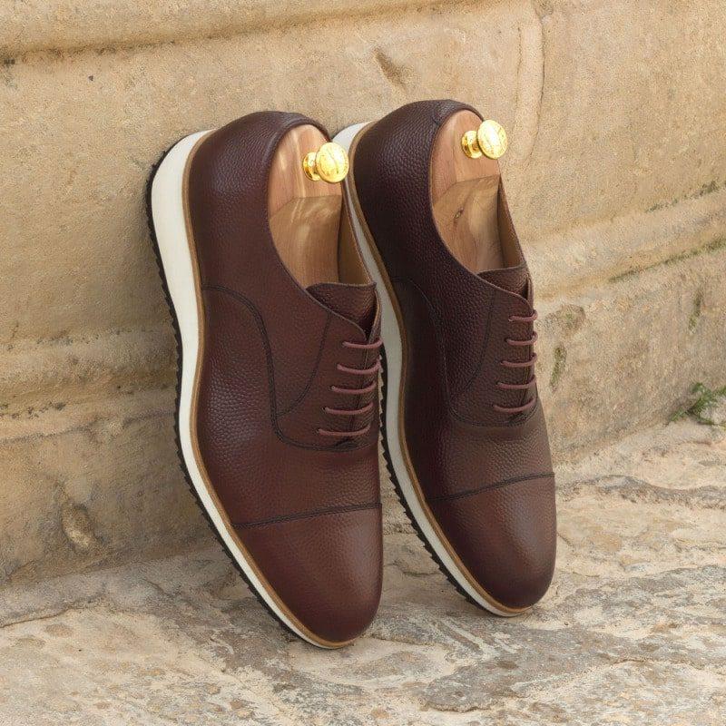 Custom Made Oxford in Burgundy Pebble Grain Leather