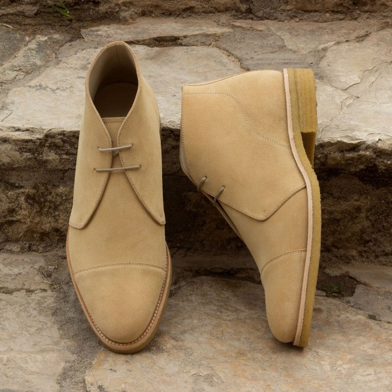Custom Made Chukka Boot in Sand Luxe Suede