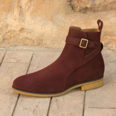 Custom Made Jodhpur Boot in Burgundy Luxe Suede