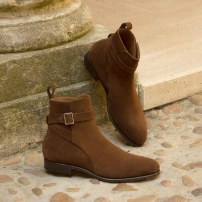 Custom Made Jodhpur Boot in Medium Brown Luxe Suede