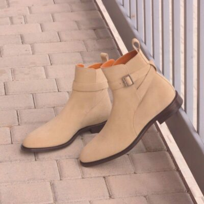 Custom Made Jodhpur Boot in Sand Luxe Suede