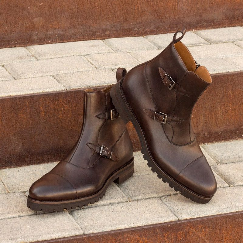 Custom Made Octavian Boot in Dark Brown Painted Calf Leather