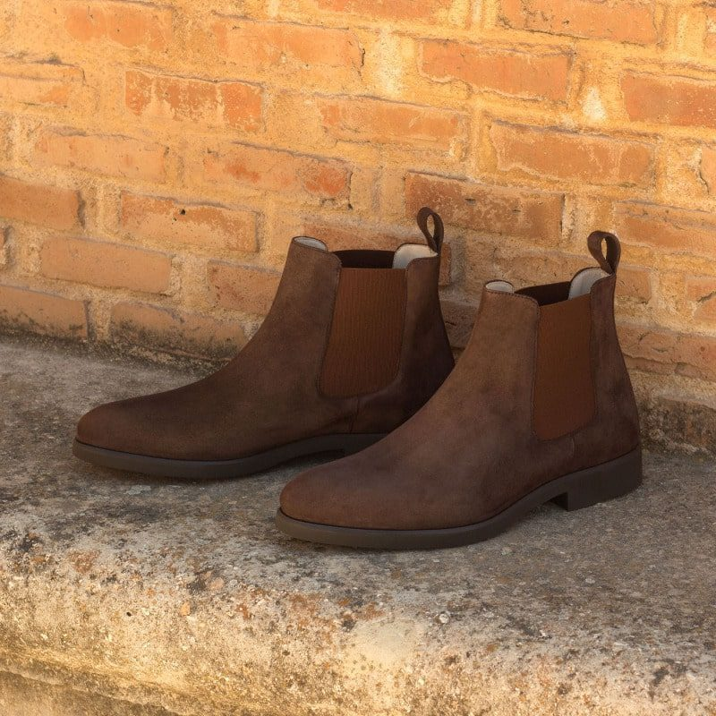 Custom Made Chelsea Boot Classic in Brown Kid Suede