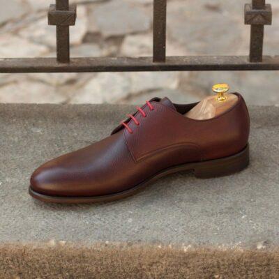 Custom Made Derby in Burgundy Painted Full Grain Leather