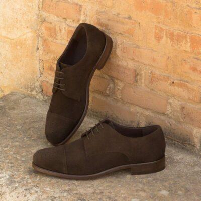Custom Made Derby in Dark Brown Luxe Suede