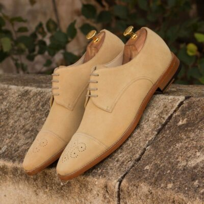 Custom Made Derby in Sand Luxe Suede