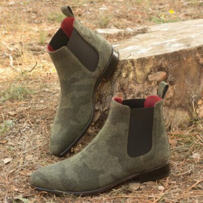 Custom Made Chelsea Boot Classic in Camo Flannel