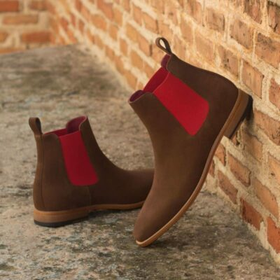 Custom Made Chelsea Boot Classic in Medium Brown Luxe Suede