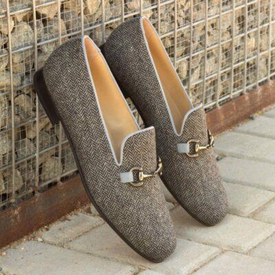 Custom Made Wellington Slippers in Herringbone