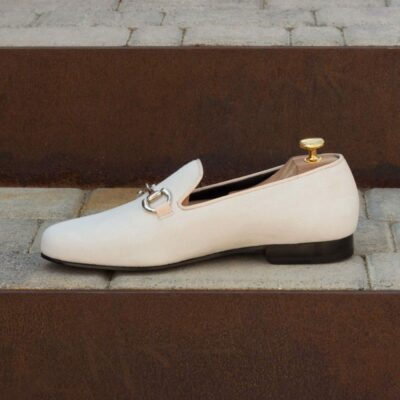 Custom Made Wellington Slippers in Ivory Suede