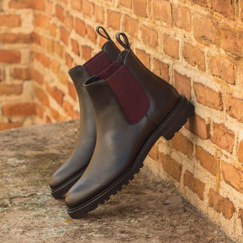 Custom Made Women's Chelsea Boot in Black Painted Full Grain Leather