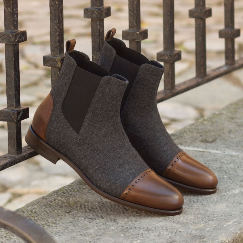 The-Chelsea-Boot-Multi-in-Dark-Grey-Flannel-with-Medium-Brown-Polished-Calf-Leather