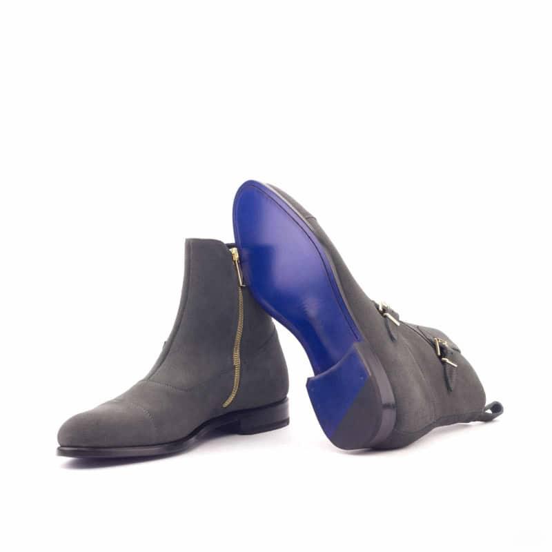 Custom Made Octavian Boot in Grey Luxe Suede