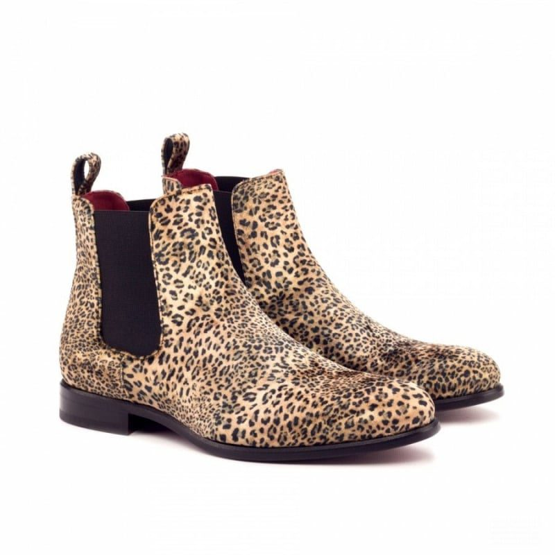Custom Made Chelsea Boot Classic in Leopard Print Sartorial