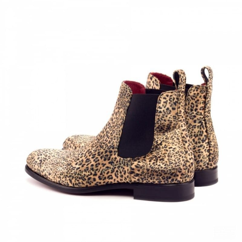 Custom Made Chelsea Boot Classic in Leopard Print Sartorial