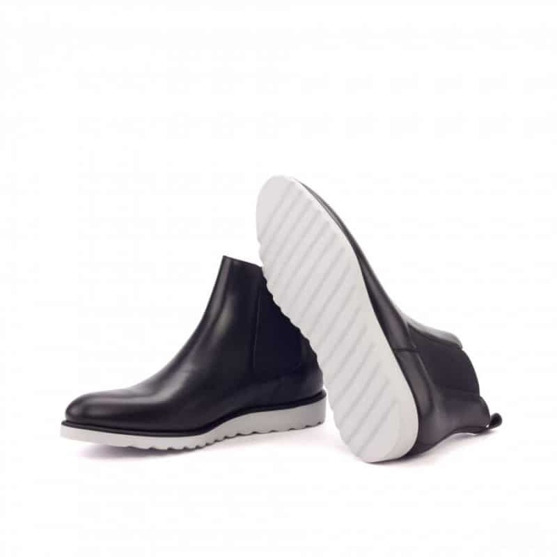 Custom Made Chelsea Boot Classic in Black Painted Calf Leather