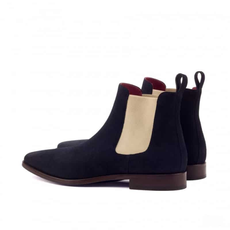 Custom Made Chelsea Boot Classic in Navy Blue Luxe Suede