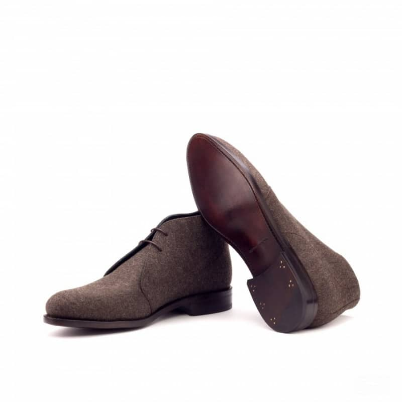 Custom Made Goodyear Welted Chukka Boots in Brown Flannel