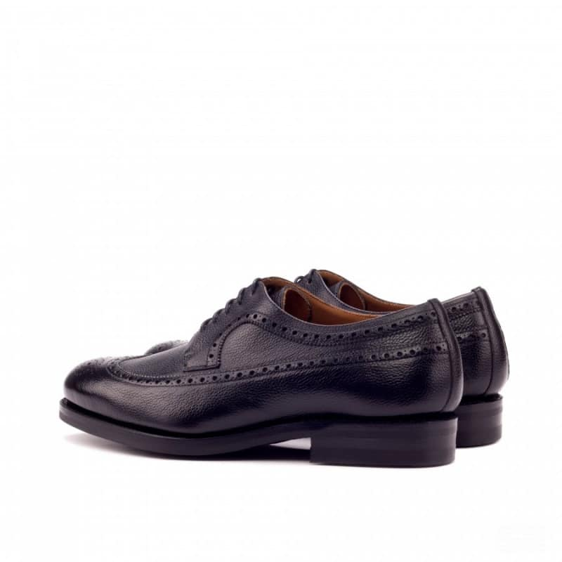 Custom Made GoodyeaCustom Made Goodyear Welted Long Wingtip Blucher in Black Painted Full Grain Leatherr Welted Long Wingtip Blucher in Medium and Dark Brown Painted Full Grain Leather