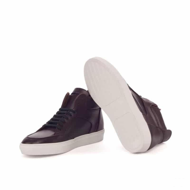 Custom Made High Top Multi in Burgundy Box Calf Leather