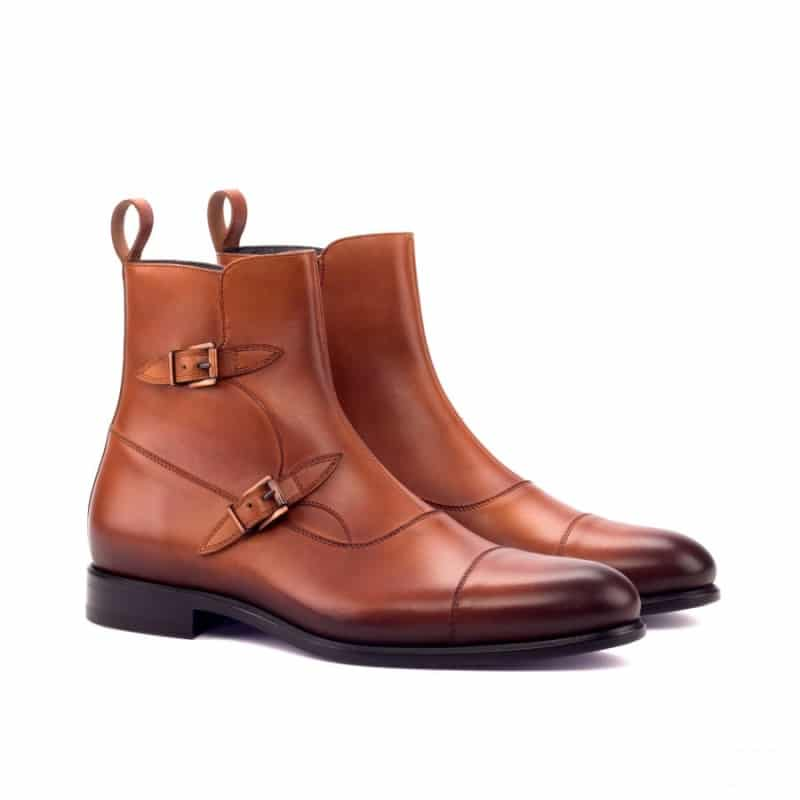 Custom Made Octavian Boot in Burnished Cognac Painted Calf