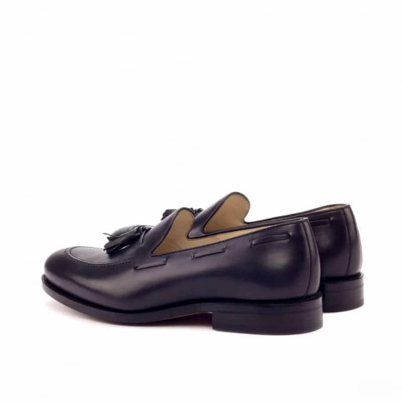 Custom Made Goodyear Welted Loafers in Black Painted Calf Leather