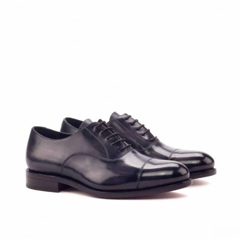 Custom Made Goodyear Welted Oxford in Italian Raw Crust Leather with a Grey Hand Patina