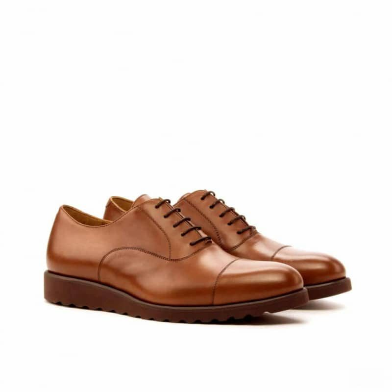 Custom Made Oxford in Medium Brown Painted Calf Leather