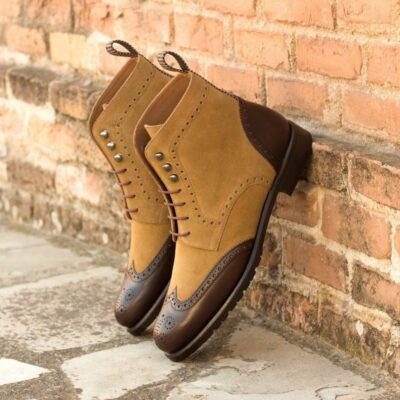 The Women's Military Brogue Boot Model 3339