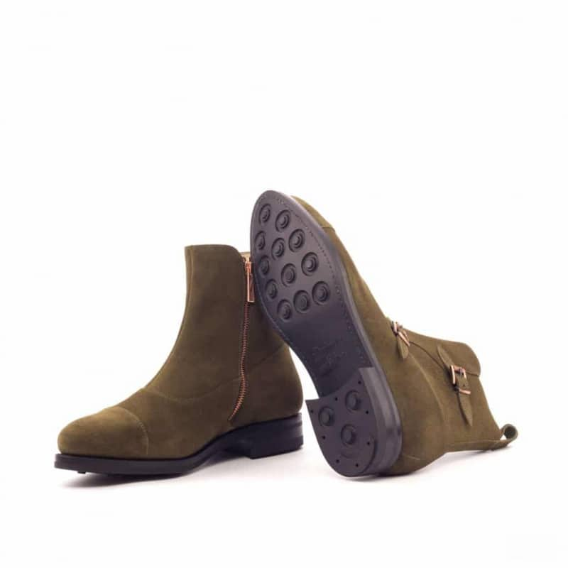 Custom Made Goodyear Welted Octavian Boot in Khaki Luxe Suede