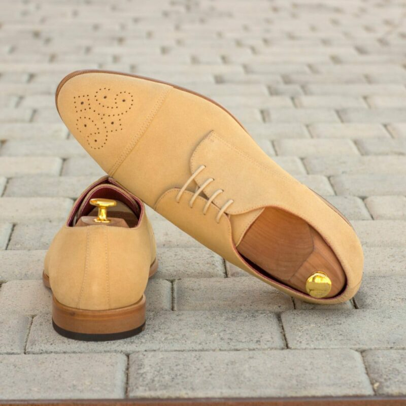 Custom Made Men's Derby in Sand Luxe Suede