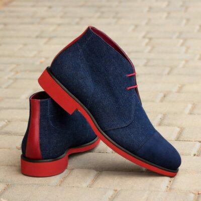 Custom Made Men's Chukka Boot in Denim