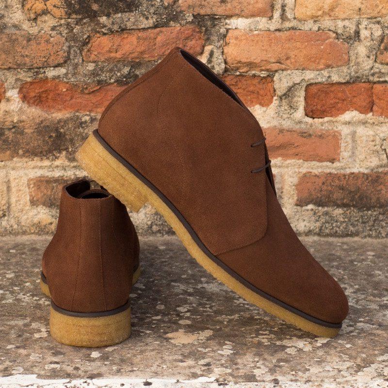 Custom Made Chukka Boot in Medium Brown Luxe Suede