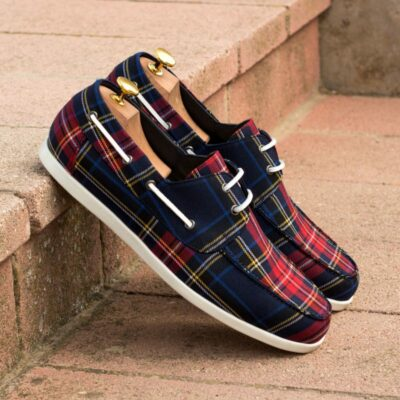 Custom Made Boat Shoe in Tartan