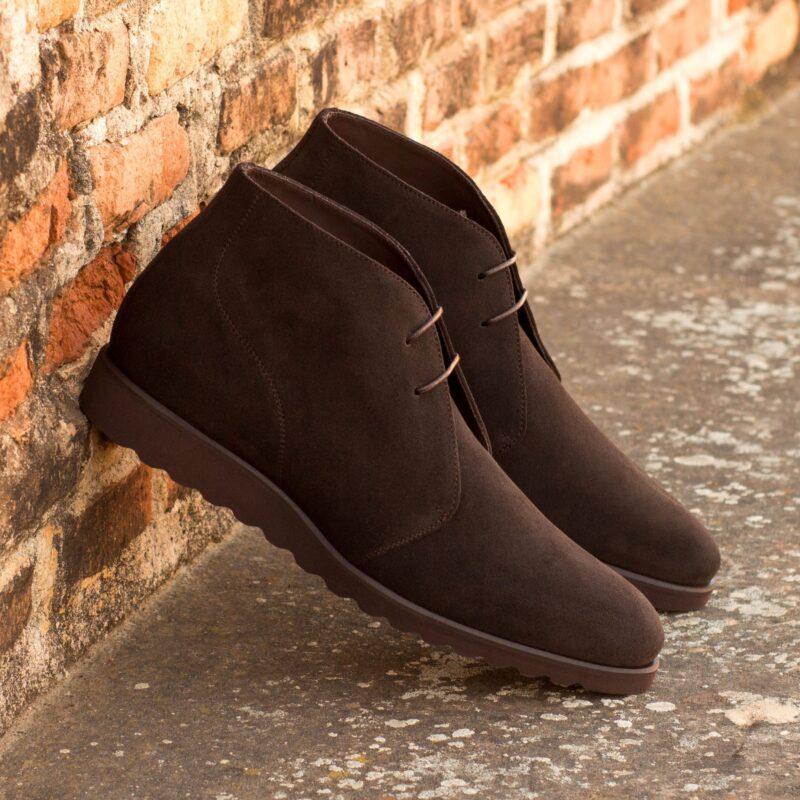 Custom Made Chukka Boot in Dark Brown Luxe Suede