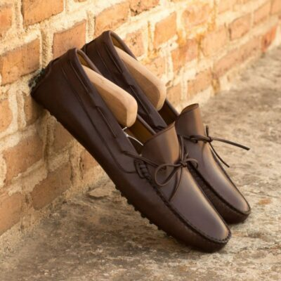 Custom Driver in Dark Brown Painted Calf Leather