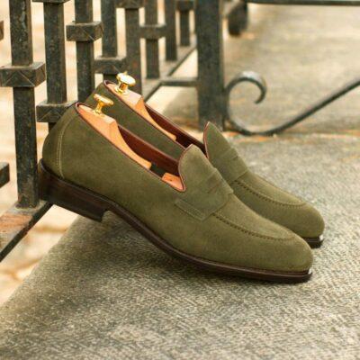 Custom Made Men's Goodyear Flex Loafer in Khaki Suede