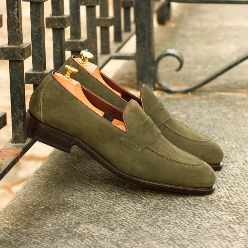 Custom Made Men's Goodyear Flex Loafer in Khaki Suede