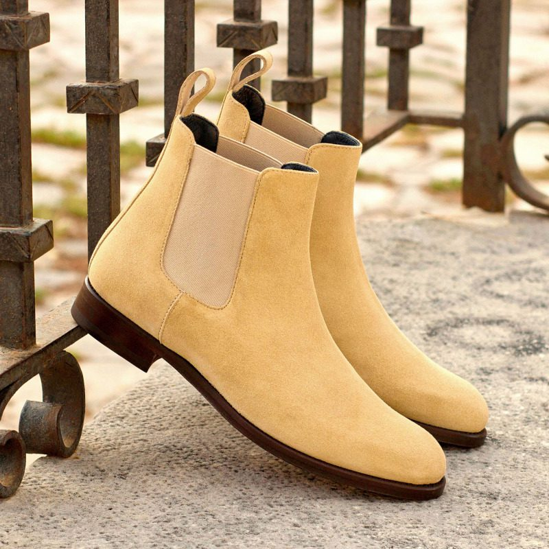 Custom Made Women's Chelsea Boot in Sand Luxe Suede