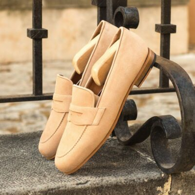 Custom Made Wellington Slippers in Camel Kid Suede