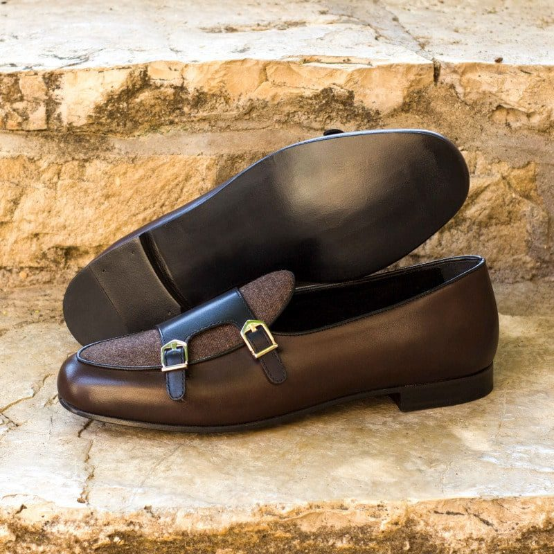 Dark Brown Painted Calf with Brown Flannel