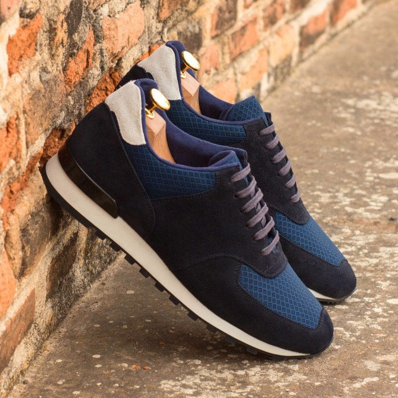 Custom Made Men's Sneaker in Navy Blue Luxe Suede
