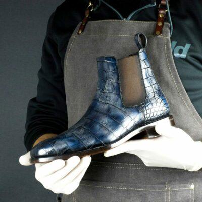 LIMITED EDITION Croco Dakar Hand Patina Chelsea Boots