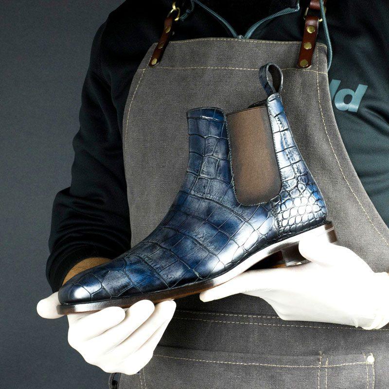 SPECIAL EDITION Croco Dakar Hand Patina Chelsea Boots