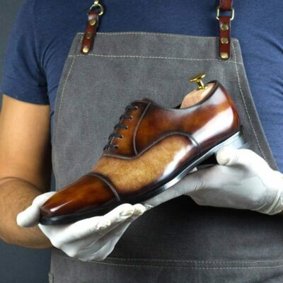 LIMITED EDITION Fire and Cream Museum Hand Patina Oxford