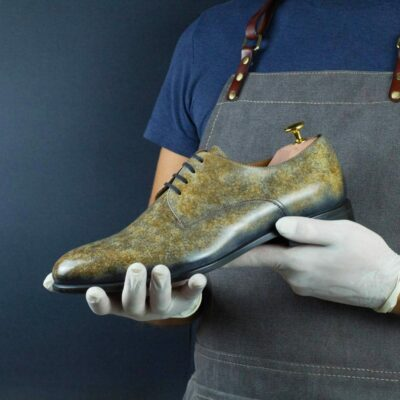 LIMITED EDITION Taupe Stone Hand Patina Derby